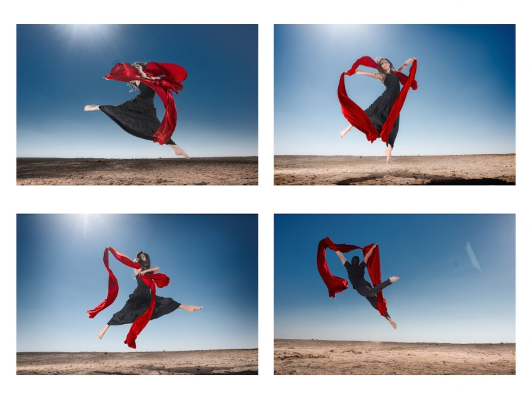 4 Dance Movements in the Jordanian desert